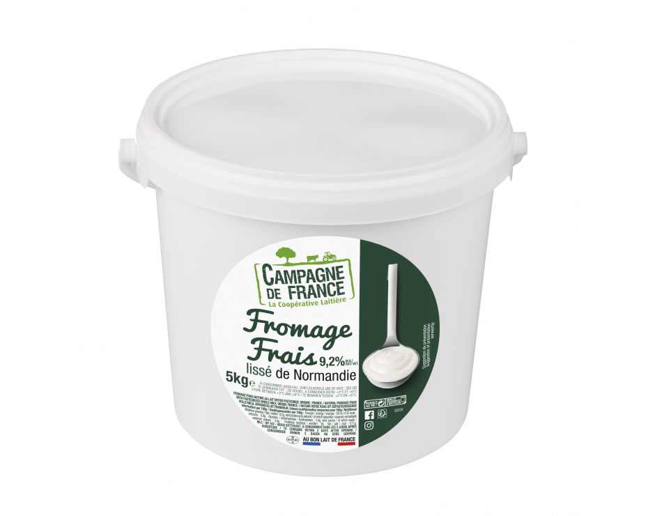 Photo packaging fromage frais nature lissé 9,2%