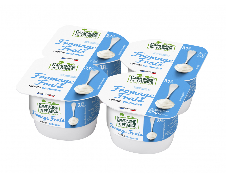 Photo packaging fromage frais nature 3,1% *4