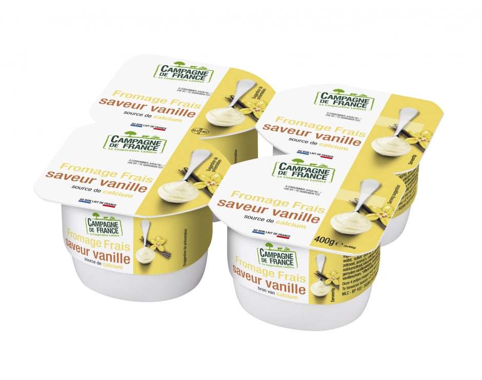 Photo packaging fromage frais saveur vanille