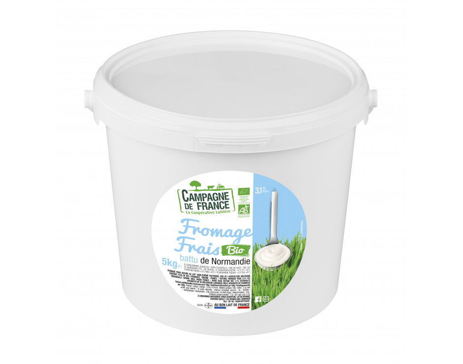 Photo packaging Fromage Frais Nature Bio 3,1% MG 5kg