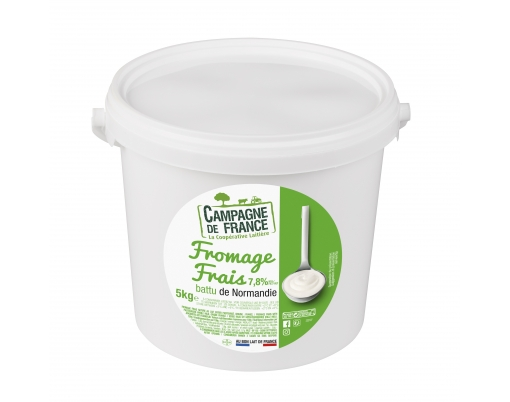 Photo packaging fromage frais nature battu 7,8%