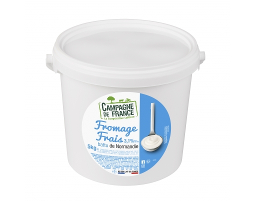 Photo packaging fromage frais nature battu 3,1%