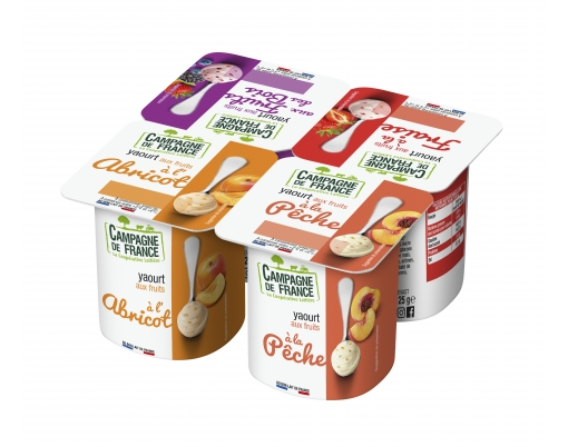Photo packaging yaourt aux fruits au lait demi-écrémé 0,9%