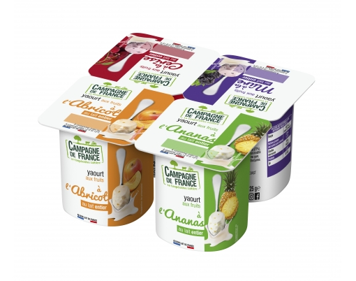 Photo packaging yaourt aux fruits au lait entier 2,6%