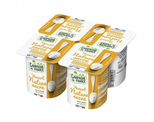 Photo packaging yaourt nature sucré 0,9%