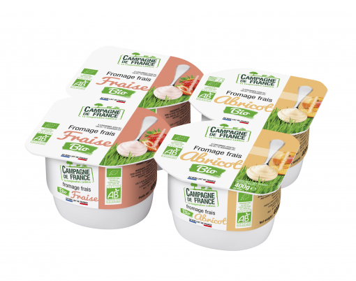 Photo packaging Fromage Frais aux fruits Bio 4x100g